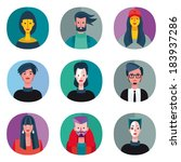 a set of nine avatar for cool... | Shutterstock .eps vector #183937286