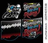 racing theme design frame...   Shutterstock .eps vector #1839405538