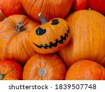 halloween horror smiling... | Shutterstock . vector #1839507748