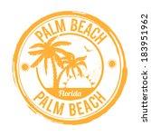 palm beach  florida grunge... | Shutterstock .eps vector #183951962