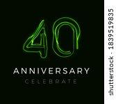 forty anniversary poster for... | Shutterstock .eps vector #1839519835