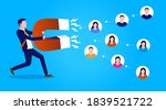 attracting users and customers  ...   Shutterstock .eps vector #1839521722
