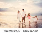 happy young family having fun... | Shutterstock . vector #183956432