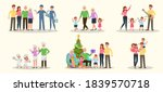 set of happy family people... | Shutterstock .eps vector #1839570718