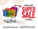 super sale vector banner design.... | Shutterstock .eps vector #1839592132
