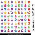big set of cute monsters...