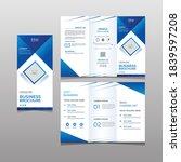 blue corporate try fold flyer...   Shutterstock .eps vector #1839597208