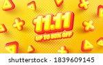 november 11 singles day sale...   Shutterstock .eps vector #1839609145
