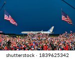 Small photo of President Donald Trump wraps up his speech at a campaign rally at Fayetteville Regional Airport, Saturday, Sept. 19, 2020, in Fayetteville, N.C.