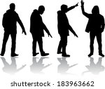 group of men | Shutterstock .eps vector #183963662