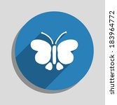 butterfly icon  vector... | Shutterstock .eps vector #183964772
