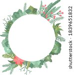winter succulents wreathes and... | Shutterstock .eps vector #1839651832