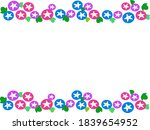 cute and cool morning glory... | Shutterstock .eps vector #1839654952