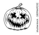 illustration of scary halloween ... | Shutterstock . vector #1839669232