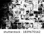 the grunge texture is black and ... | Shutterstock .eps vector #1839670162