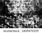 grunge texture. black and white ... | Shutterstock .eps vector #1839670195