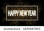 new year in a white frame on a... | Shutterstock .eps vector #1839687892