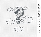 vector hand drawn question mark ... | Shutterstock .eps vector #183969395
