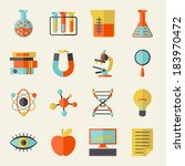 science icons in flat design... | Shutterstock .eps vector #183970472