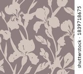hand drawn floral seamless... | Shutterstock .eps vector #1839718675