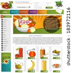 website template design along... | Shutterstock .eps vector #183972116
