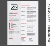 corporate resume design...   Shutterstock . vector #1839724642