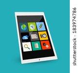 3d tablet flat concept