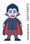 halloween vampire illustration. ... | Shutterstock .eps vector #1839754975