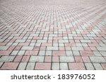 vintage stone street road...   Shutterstock . vector #183976052