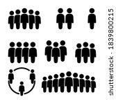 people icon set in trendy flat...   Shutterstock .eps vector #1839800215