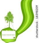 frame with tree illustration | Shutterstock .eps vector #18398209