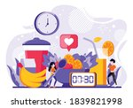 couples who change their diet... | Shutterstock .eps vector #1839821998