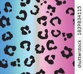 leo seamless vector ink. jaguar ... | Shutterstock .eps vector #1839834115