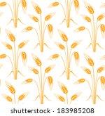 barley. pattern. vector...   Shutterstock .eps vector #183985208