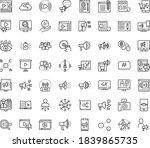 thin outline vector icon set... | Shutterstock .eps vector #1839865735