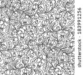 floral seamless pattern on... | Shutterstock .eps vector #183991256