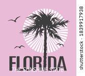 florida the sunshine state... | Shutterstock .eps vector #1839917938