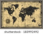 old map | Shutterstock .eps vector #183992492