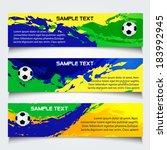 vector  soccer banner in brazil ... | Shutterstock .eps vector #183992945