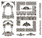 ornamental design lace borders... | Shutterstock .eps vector #1839934888