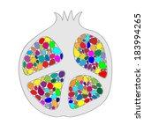 sliced pomegranate colorful... | Shutterstock .eps vector #183994265