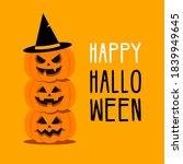 happy halloween banner with... | Shutterstock .eps vector #1839949645