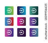login white icon flat design...
