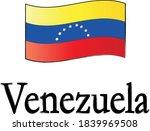 venezuela flag and lettering on ...   Shutterstock .eps vector #1839969508
