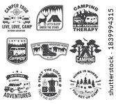 set of rv camping badges ... | Shutterstock .eps vector #1839994315
