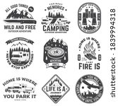 set of rv camping badges ... | Shutterstock .eps vector #1839994318