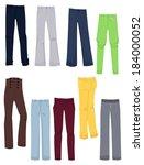 set of women's business pants... | Shutterstock .eps vector #184000052