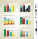 business charts | Shutterstock . vector #184001738