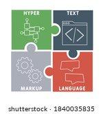 html   hyper text markup...   Shutterstock .eps vector #1840035835