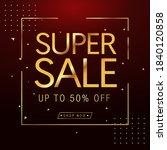 sale banner template design ...   Shutterstock .eps vector #1840120858